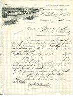LETTRE--MANUFACTURE DE COUVERTURES & MOLLETONS- MARECHALLAT & MENNETON- COURS 1902 - Textilos & Vestidos