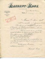 LETTRE--LAURENT-ROUX- PARIS 1903 - Francia