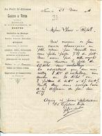 LETTRE--AU PETIT ST ETIENNE- GASCOIN & VOYER  - NANTES  1904 - Textilos & Vestidos