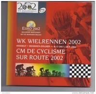 BELGIE -BELGIQUE EUROMUNTEN BU-set 2002 - WK Wielrennen 2002 - Belgique