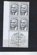 """FR Coins Datés FDC YT 1839 """" G. Pompidou """" Neuf** Paris 2 AVRIL 1975 - Coins Datés"""
