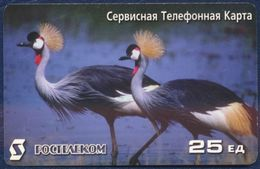 RUSSIA - RUSSIE - RUSSLAND - RUSIA ROSTELECOM PRE-PAID CARD 25 UNITS BIRDS GOOD CONDITION - Russia