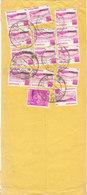 Bangladesh Registered Cover Sent To Denmark 10-4-1980 Overprinted SERVICE Topic Stamps - Bangladesh