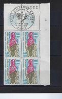 """FR Coins Datés FDC YT 1636 """" Le Cancer """" Neuf** Paris Le 4 AVRIL 1970 - Coins Datés"""