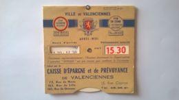 Vieux Disque De Contrôle De Stationnement Publicité  Caisse D Épargne Et De Prévoyance  De Valenciennes - Publicidad