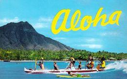 1 AK USA Hawaii * Aloha Von Waikiki - Outrigger Canoe Vor Wikiki * - Honolulu