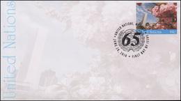 UNO New York Umschlag U 21A Kirschbäume 44 Cent 2010, 165x92, FDC 28.6.2010 - New York - Hoofdkwartier Van De VN