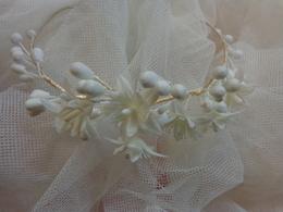 Couronne De Mariee Ou Communiante -diademe + Voile Arrondi 176x140 - Wedding