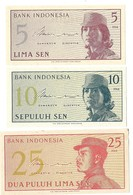 Billets - Indonésie - 5, 10 Et 25 SEN 1964 -  Neuf - Non Circulé - - Indonésie