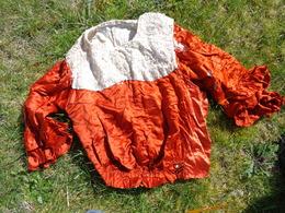 Atypique Haut De Jupe Tres Ancien - Epoque A Determiner Pour Modele-en Soie -dentelle - Vintage Clothes & Linen