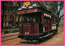 "Bruxelles - La "" California "" Voiture Mixte 346 - Tramway - Bois BOSCH - Bourse - Place Stephanie - VETRAMU - Vervoer (openbaar)"