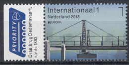 Nederland – 26 Maart 2018 – PostEurop 2018 - Draaibrug Dedemsvaart – Brug/bridge/Brücke/pont - MNH - Bruggen