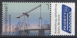 Nederland – 26 Maart 2018 – PostEurop 2018 - Kwakelbrug Edam – Brug/bridge/Brücke/pont - MNH - Bruggen