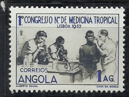 Angola 1952 Medical Congree Common Design CD44 Medical Examination MLH - Medicine