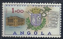 Angola 1964 Luanda Chamber Of Commerce Centenary - Commerce Building And Arms Of Chamber Of Commerce MNH - Francobolli