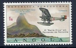 Angola 1972 50th Anniv Lisbon Rio Janeiro First Flight Common Design CD60 Sacadura Cabral And Coutinho MNH - Airplanes