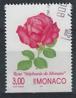 "II--129-. N° 2018,  OBL., ROSE "" STEPHANIE DE MONACO "", COTE 2.00 € ,  A SAISIR  , Liquidation - Monaco"