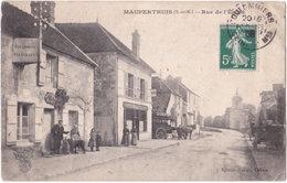 77. MAUPERTHUIS. Rue De L'Eglise (Poste, Félix Potin) DOS - Autres Communes