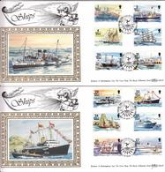 Isle Of Man 1993 Ships - On 2 Silk FDC - Isla De Man
