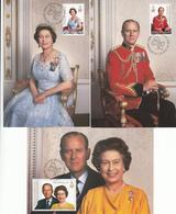Isle Of Man 1986 -  Royal Birthday Set Of 3 Maxicards - Isola Di Man