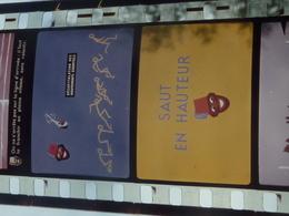 FILM FIXE (Bobine 35/mm En Couleur,odf)  Offert à L'enseignement Par BANANIA VUES FIXES L'ATHLETISME Course Saut - 35mm -16mm - 9,5+8+S8mm Film Rolls