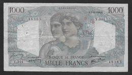"""1000 Francs  """" Minerve Et Hercule """"  Du 3 - 10 - 1946 - 1 000 F 1945-1950 ''Minerve Et Hercule''"""