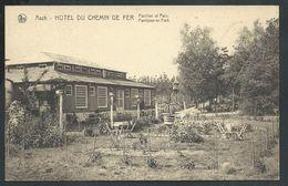 +++CPA - AS  ASCH - Hôtel Du Chemin De Fer - Pavillon Et Parc - Nels   // - As