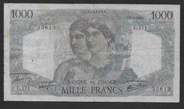 """1000 Francs  """" Minerve Et Hercule """"  Du 17 - 1 - 1946 - 1871-1952 Anciens Francs Circulés Au XXème"""
