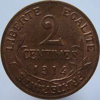 France 2 Centimes 1914 UNC - Frankreich