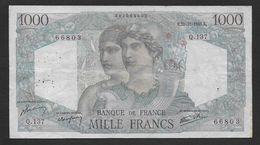 """1000 Francs  """" Minerve Et Hercule """"  Du  22 - 11 - 1945 - 1 000 F 1945-1950 ''Minerve Et Hercule''"""