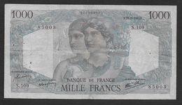 """1000 Francs  """" Minerve Et Hercule """"  Du  23 - 8 - 1945 - 1 000 F 1945-1950 ''Minerve Et Hercule''"""