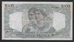 """1000 Francs  """" Minerve Et Hercule """"  Du  31 - 5 - 1945 - 1871-1952 Anciens Francs Circulés Au XXème"""