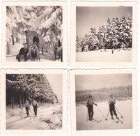67. Photo. Ski Au CHAMP DU FEU. Février 1938. 4 Photos - France