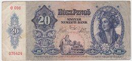Hungary P 109 - 20 Pengo 15.1.1941 - Fine+ - Ungheria