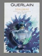 Carte à Parfumer Format Carte Postale - Perfume Card - Shalimar De Guerlain - Perfume Cards