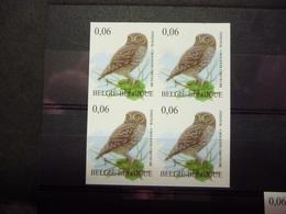 BELGIE 3672 BLOC V. 4 ONGETAND XX ( COB ) COTE : 200 EURO - Belgium