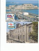 Guernsey - Commonwealth Set 2 Maxicards - Alderney