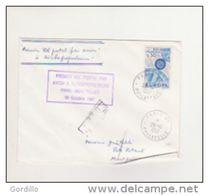 1967 - ENVELOPPE PREMIER VOL POSTAL PAR AVION A TURBOPROPULSEURS PARIS-MONTPELLIER - - Postmark Collection (Covers)