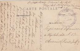 CARTE. EN FM. 3 2 17. HOPITAL GENERAL DE VITRY LE FRANÇOIS. POUR ANCENIS - Postmark Collection (Covers)