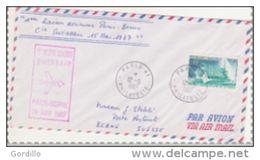 Pli  Première Liaison Paris Berne 15  Mai 1967. - Postmark Collection (Covers)