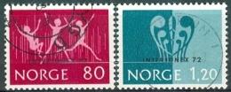 NOORWEGEN 1972 Interjunex 72serie GB-USED - Norway