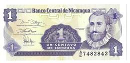 Billets - Nicaragua  - 1 Centavo De Cordoba - 1990-1991 -  Neuf - Non Circulé - - Nicaragua