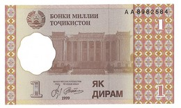 Billets - Tadjikistan  - 1 Diram 1999 -  Neuf - Non Circulé - - Tadjikistan