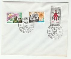 1966 Belgium FDC REVUM NOVARUM PEACE Stamps Cover Religion - FDC