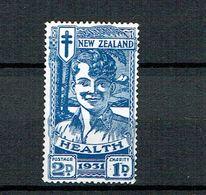 NZ 1931 Healt Blue Smile Mint No Gum/nuovo Senza Gomma - 1907-1947 Dominion