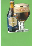 CHIMAY : Carte Postale Publicitaire - Bière Trappiste Chimay - Peu Courante - Scannée Sur Fond Vert - Chimay
