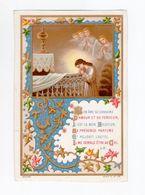 Mon âme Se Consume... Anges, Enluminure, Série A N° 48, Communion De Gilberthe Mathonnet à Fernande Fournier - Andachtsbilder