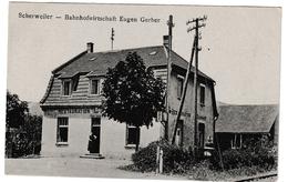 Scherwiller - Restaurant De La Gare Eugen Gerber - Scherweiler - Bahnhofwirtschaft - édit Steiner Dambach - Autres Communes