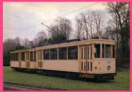 "Bruxelles - Motrice Et Remorque Type "" Standard "" - 1950 - VETRAMU - Tramway 1085 Ligne 81 - Transport Urbain En Surface"