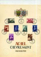 Achel Et Chèvremont Feuillets-souvenirs (2x2 Séries)  Obl Achel Et Chèvremont COB 773-80 - Feuillets De Luxe